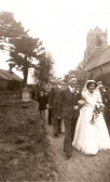 1955.  12th March  Wedding at St Peter Ad Vincula Church Coveney.