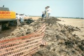 1996.  Excavation of Lancaster bomber from the field near Coveney.