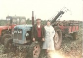 1952.  Mr & Mrs Lucas beet harvesting in Coveney.. About the tractor