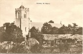 1906.  Viewed from a field behind Main Street, Coveney, St Peter Ad Vinculer Church and part of the rear of the Barraks.Picture; courtesy of Jean Bye