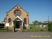 2011.  8th April Front view of Coveney Methodist Chapel