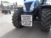 2011.  26th  June  Front vehicle of Coveney Vintage Vehicle Road Run in aid of Cancer researchPicture : courtesy of Kay Whitbread
