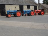 2011.  26th June  Tractors being readied for the Coveney Vintage Vehicle Road RunPicture: courtesy of Kay Whitbread