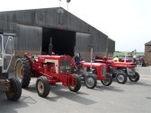 2011.  26th June  Tractors preparing to set off on the Coveney Vintage Vehicle Road runPicture: Courtesy of Kay Whitbread
