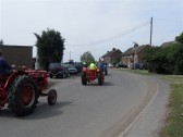 2011.  26th June  Tractors leaveing Coveney on the annual Coveney Vintage Vehicle Run