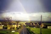 2000.  Rainbow; Viewed from Main Street Looking along School Lane  toward Ely.