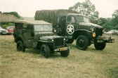1993.  Coveny Vintage Vehicle dispay Photo: courtesy of Peter WhitbreadVehicles: foreground: Wilys Jeep.  Behind: GMC truck