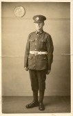 1934.  Robert (Bob) Austin Duffield, aged 19, Just joined the Cambridgeshire Territorials