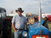2012.   June  Peter Whitbread with the trophy awarded for the best Fordson at  Haddeham Steam Rally.This tractor was once owned by Horace Lucas of Coveney.