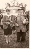 1953.  2nd June  Coronation Celebrations at CoveneyConnie Norman and Millie Biggs