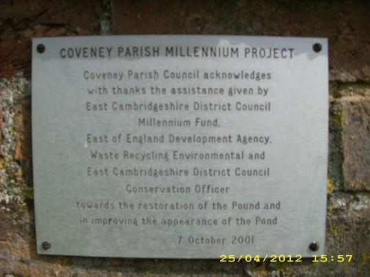 2007. Notice near village sign