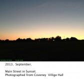 2013.  September.  Sunset over Main Street