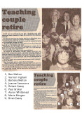1983.  Mr Ben Melton & Mrs Barbara Melton retire as school teachers for Coveney after 33 years.