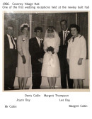 1966.  Wedding of Denis Collin and Margret Thompson