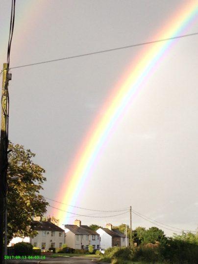 2017  13th September  Rainbow over Coveney