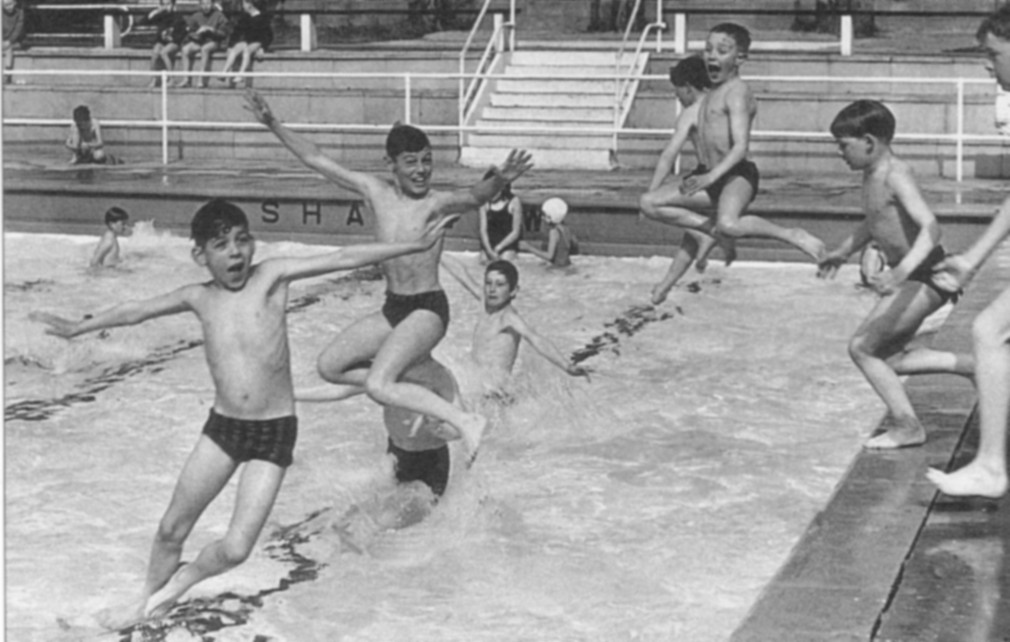 Children Swimming In The Outdoor Pool In Angel Drove