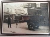 Mr J Webb with a cart