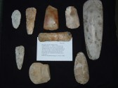 Flint tools neolithic period found in fields on Bassingbourn farm, and on the borders between chippenham & Fordham by Mr L Buck