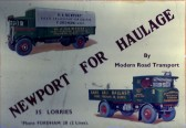 Newport Haulage Fordham. Grouped under 1947. these vehicles were advertised on a 1930's calendar.