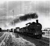 J17 Leaving Fordham Station on route to Cambridge from Mildenhall.
