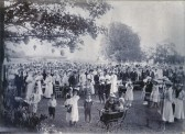 Fordham, Celebrating Queen Victoria's Diamond Jubilee,on the Recreation Ground, with Waterside Lodge Barns in the background.