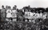 Fordham Congrigational Chapel Sunday School children competing in a May Queen Competition Accompanied by ITV's Miss Roslyn. May 25th 1968