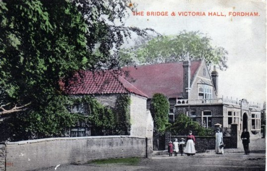 A early picture of the Victoria Hall  Hayward Institute.Built to commemorate  Queen Victoria and  remembrance of Miss Hayward the main benefactor.