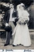 Mr And Mrs Fred Nicholls, on their wedding day.