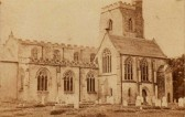 Very old picture of Fordham Church prior to the restoration in 1871- 73 to house the organ, adding a new window to the left of the picture