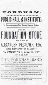 From meeting in Jan 1897 it was decided to build a Hall.to getting estimates and laying foudation stone only Seven Months.