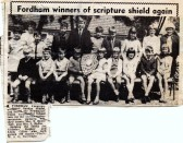 Fordham Congrigational Church Shield Winners.