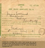 Licence for Mail Servant 1918