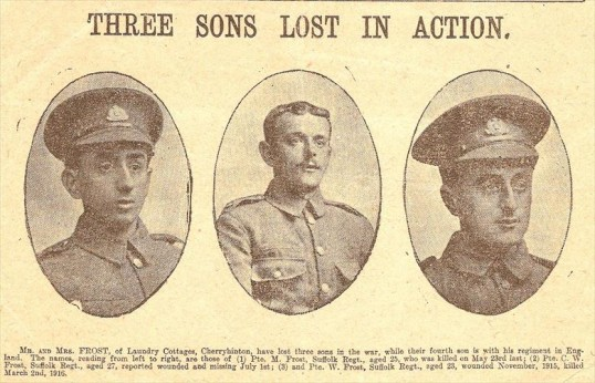 3 sons from Cherry Hinton