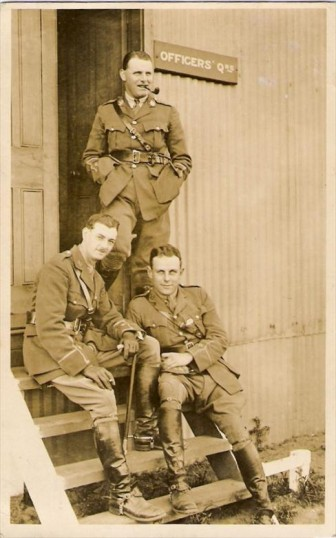 Charlie Shrubbs and comrades in the Great War