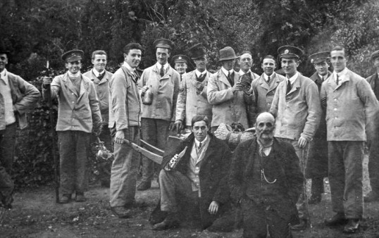 Great War wounded soldiers in Swavesey