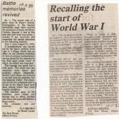 Great War memories of Harold Brown
