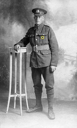 John William Dunham of March in Great War uniform