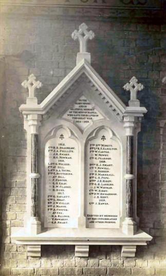 Great War memorial at Manea church