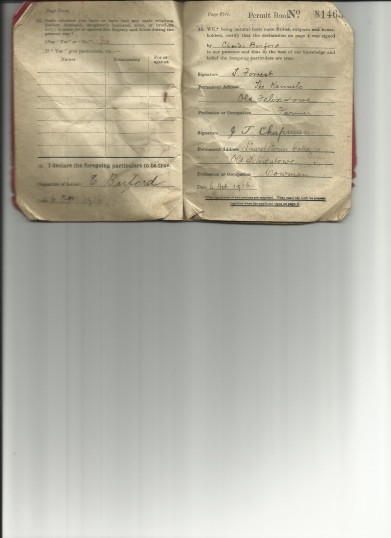Great War Permit