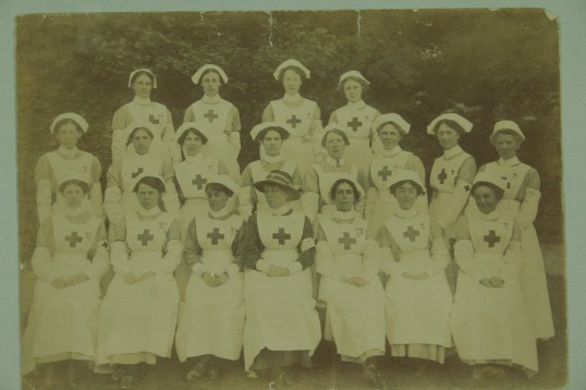 Mildred Rowley Commandant with her VAD Nurses