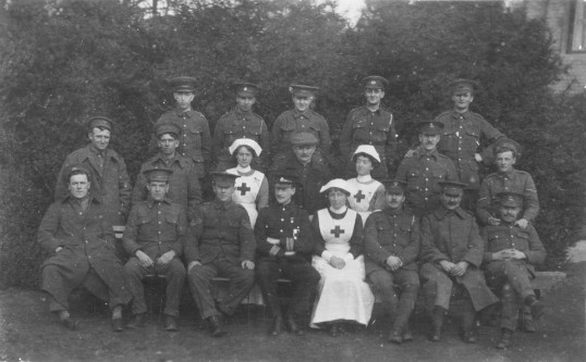 Staff and Wounded Soldiers at The Firs
