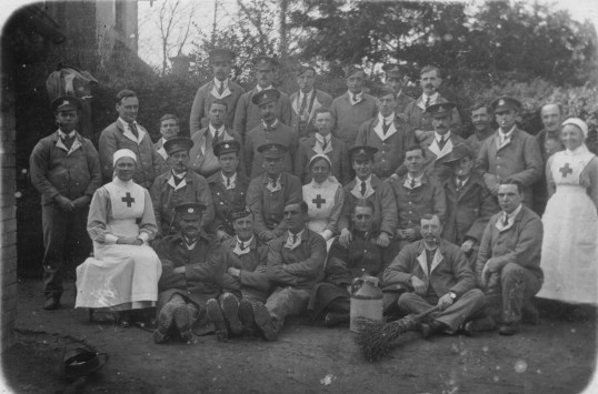 Wounded Soldiers at the Histon VAD hospital