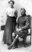 Private Frank Greaves and his wife Ada