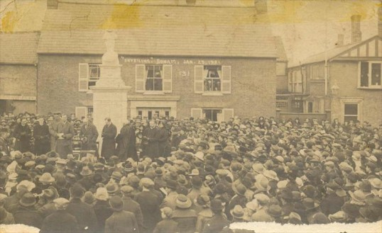 23 1 21 - dedication of Soham war memorial