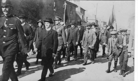 The unveiling of Cottenham's war memorial on 4th September 1921