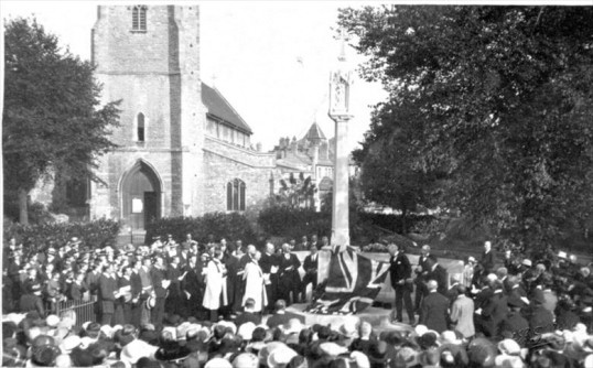 The unveiling of Chatteris war memorial, 6th October 1920