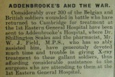 Addenbrookes and the War
