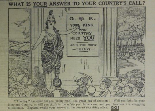 Advert for Young Men to Enlist