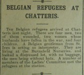 Belgian Refugees at Chatteris