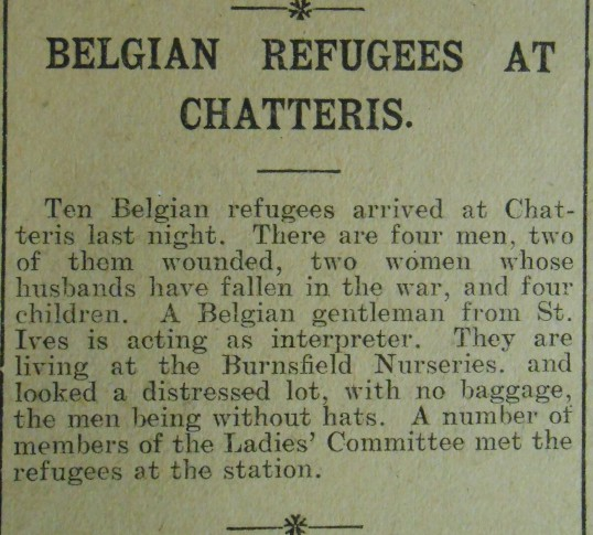 Belgian Refugees at Chatteris